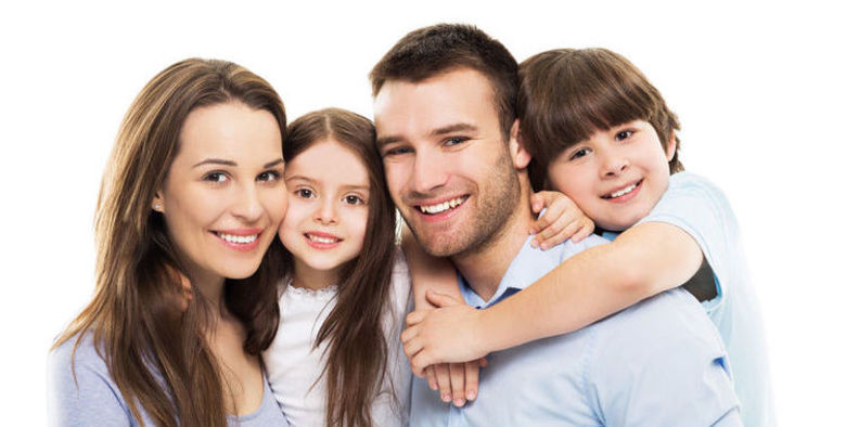 39944107 - young family with two kids
